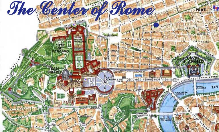 Roma Cartina Centro Storico.Mappa Di Roma